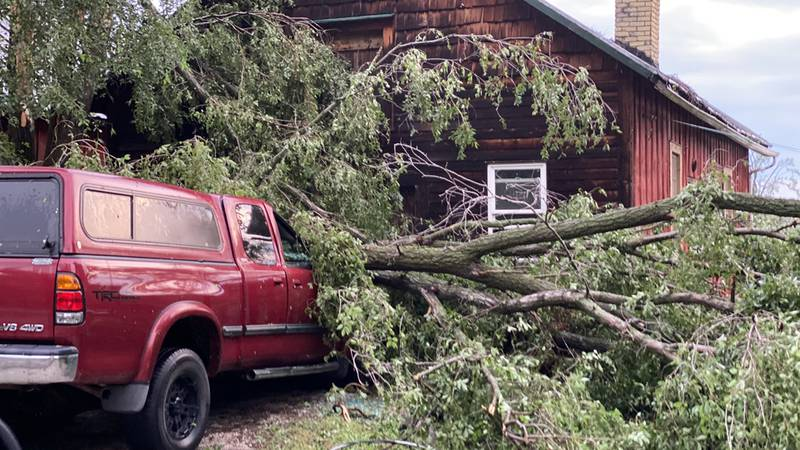 A Jefferson Co. home and vehicle are left damaged by the severe storms that roared through...