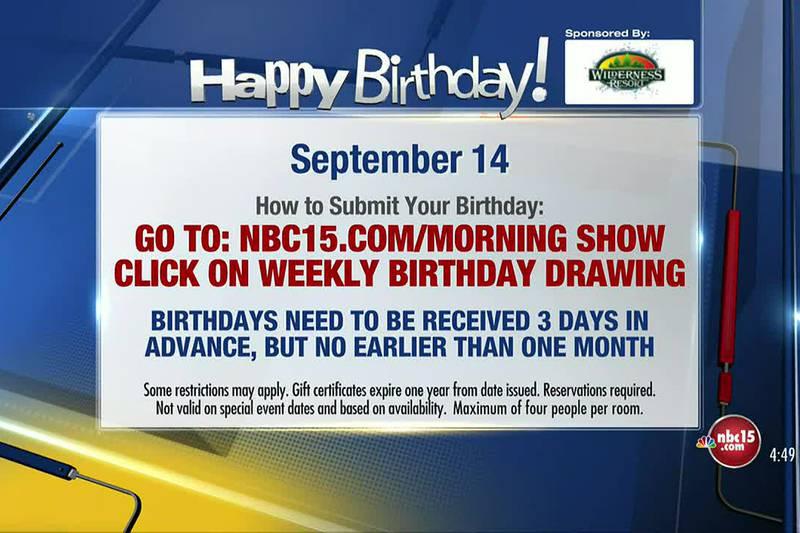 Birthdays for Tuesday, September 14