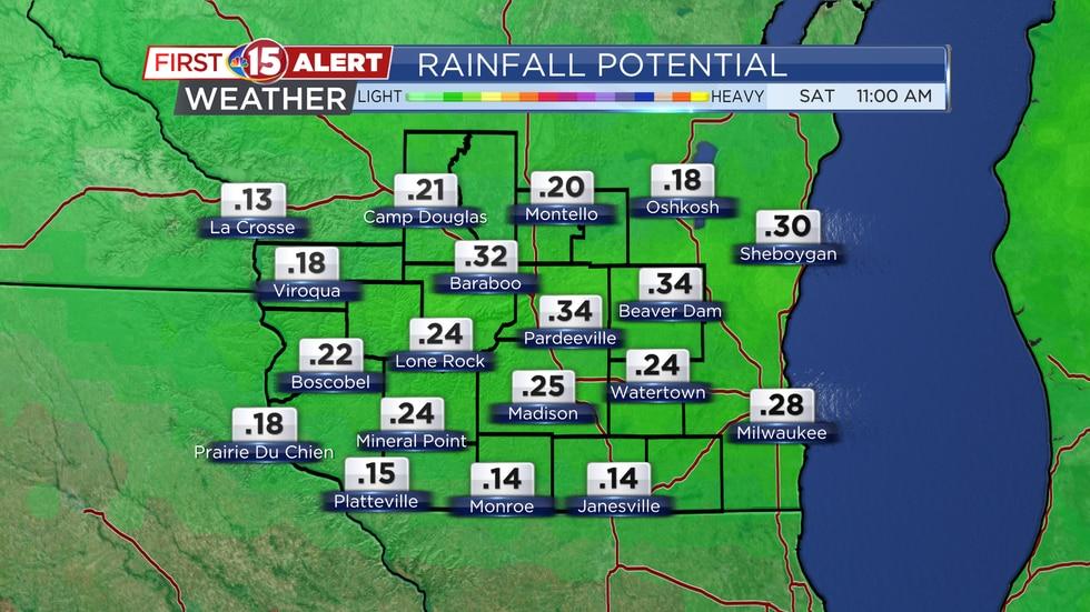 Rainfall Potential Wednesday - Thursday