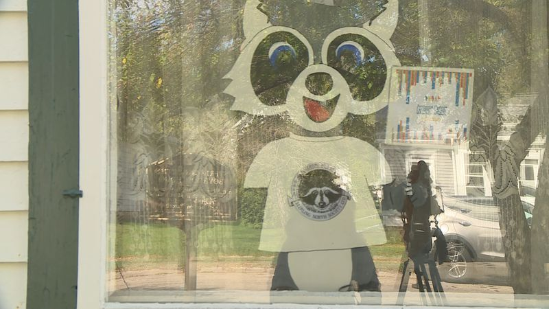 The Children's Museum of Rock County created a two-month long scavenger hunt for this raccoon.
