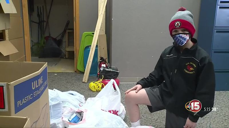 Local seventh grader helps fellow students in need through underwear donation