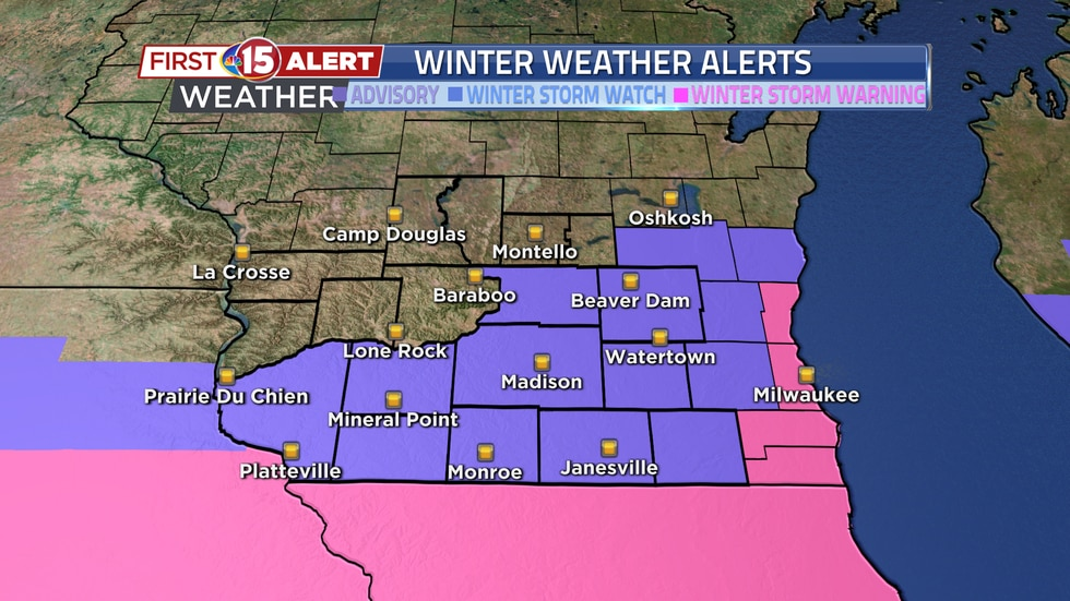A Winter Weather Advisory remains in effect over the southern part of the state until noon...