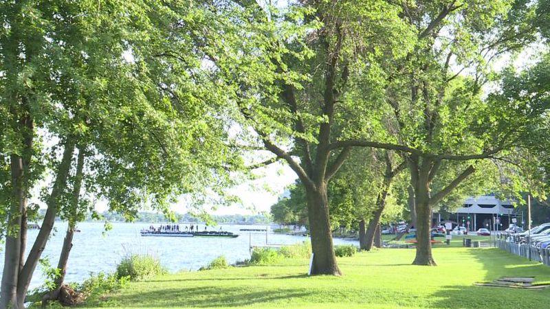 Law Park along Lake Monona in downtown Madison.