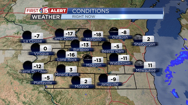 Another cold morning across southern Wisconsin. Double-digit below zero temperatures have been...