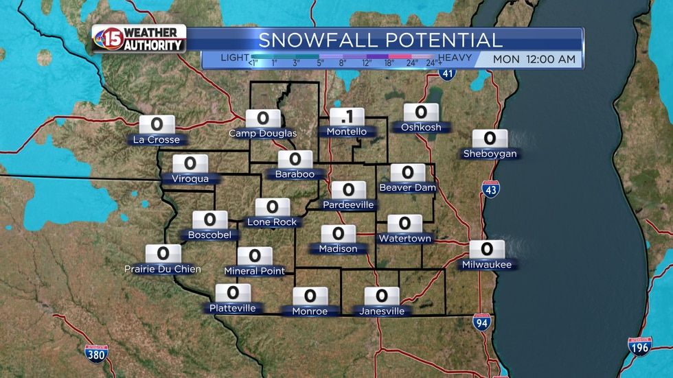 Snowfall Potential through Sunday