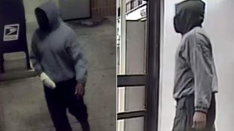The Madison Police Dept. released these surveillance images of the suspect in a robbery at a...