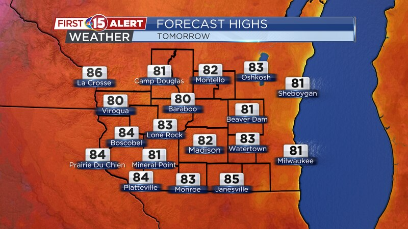 Highs - Tuesday