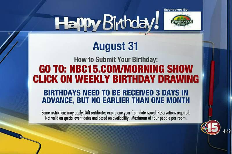Birthdays for Tuesday, August 31