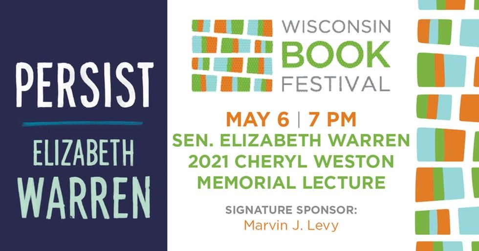Senator Elizabeth Warren to join WI Book Festival on May 6, 2021