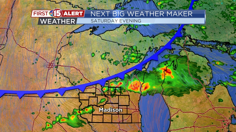Next Big Weather Maker - Cold front Saturday evening