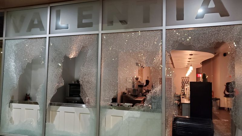 Valentia Coffee was one of several shops with damage