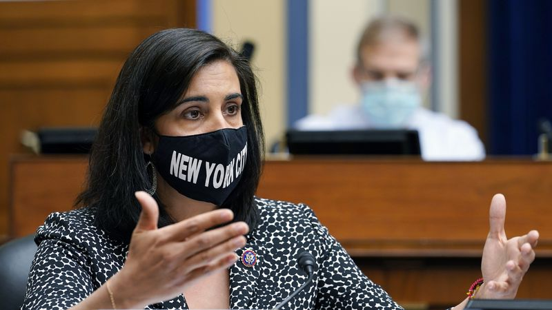 FILE - In this April 15, 2021, file photo, Rep. Nicole Malliotakis, R-N.Y., speaks during a...