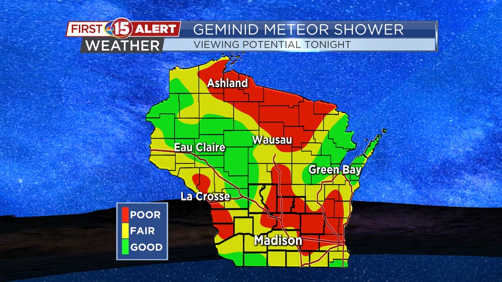 Geminid Meteor Shower - Viewing Potential Tonight
