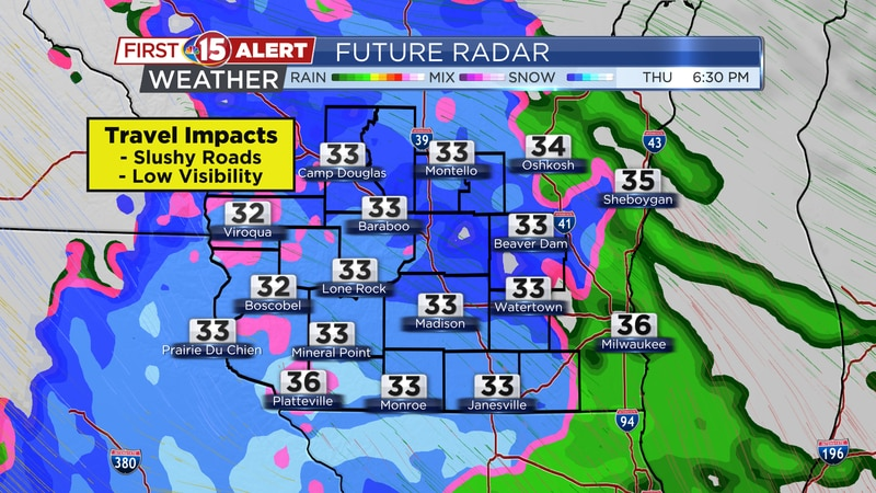 "Light-moderate snow showers are expected Thursday afternoon. Widespread 2-4"" totals are likely."