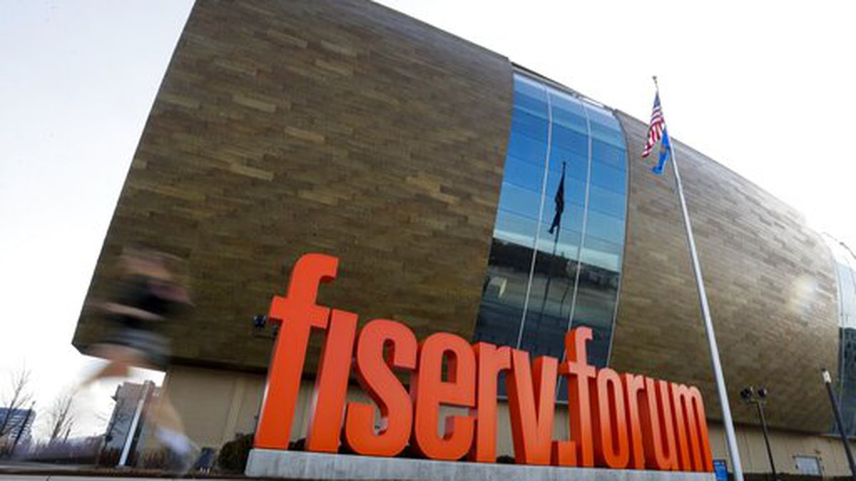 Fiserv Forum stands Thursday March 12, 2020, in Milwaukee.