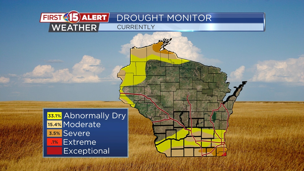 Drought conditions as of Tuesday, Sept. 21. The latest drought monitor was released Thursday...