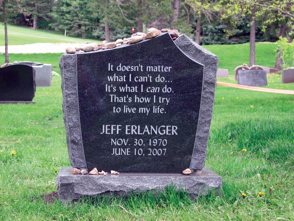 Jeff Erlanger headstone