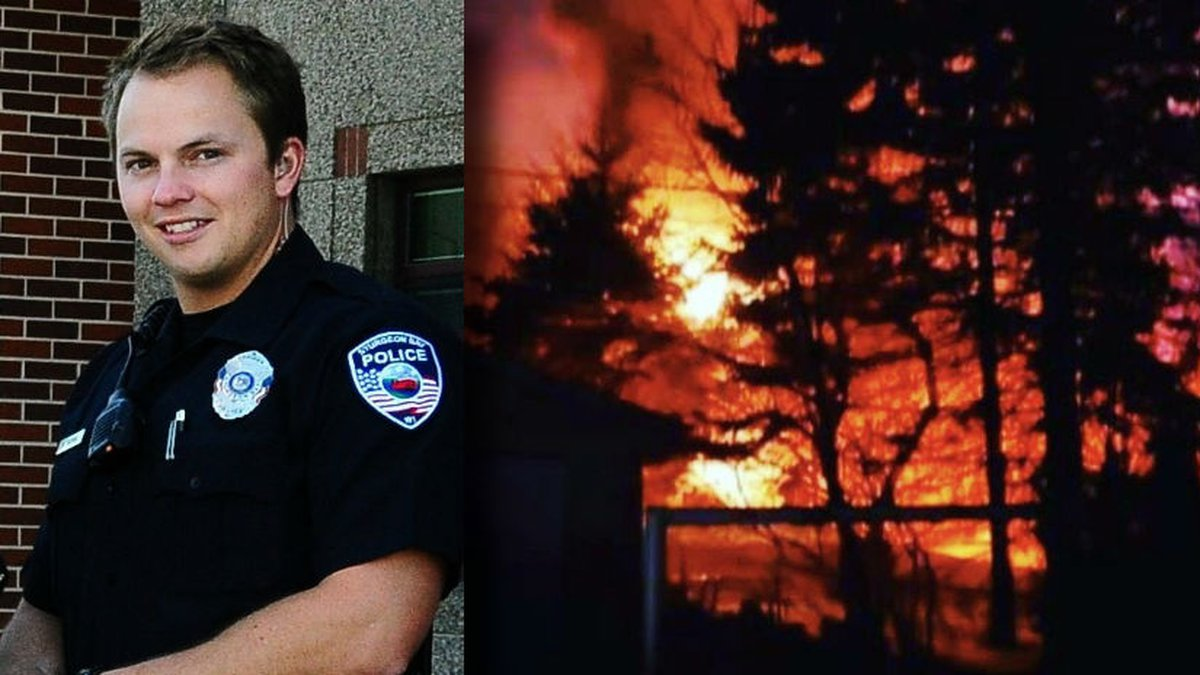 Sgt. Markus Tassoul went inside a burning apartment complex Feb. 29, 2020 to rescue a man....