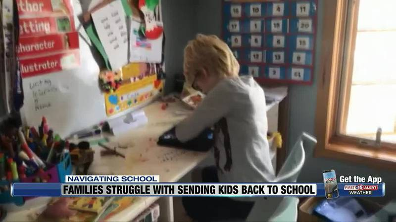 For the second year, families have had to navigate whether to send their children to school...