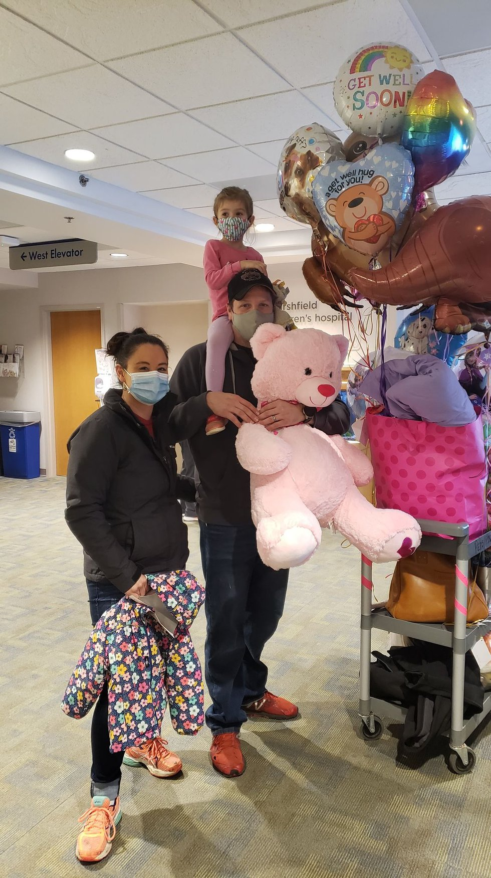 Lily Lavin is discharged from hospital after MIS-C diagnosis.