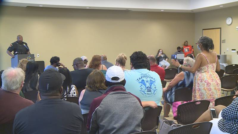 The already-scheduled meeting came after several shootings and shots fired calls over the...