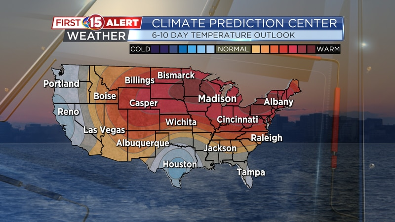 There's a high chance for above-average temperatures next week! (June 7-11)