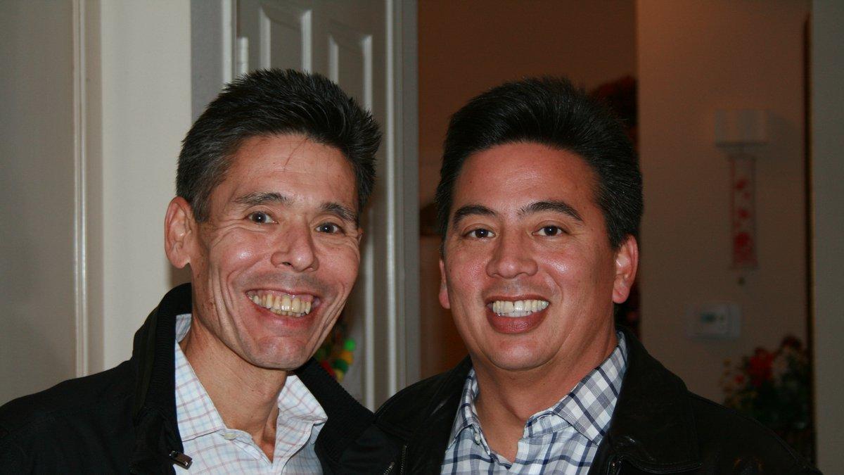 Jeff Yabuki (left) with brother Craig Yabuki, 2012