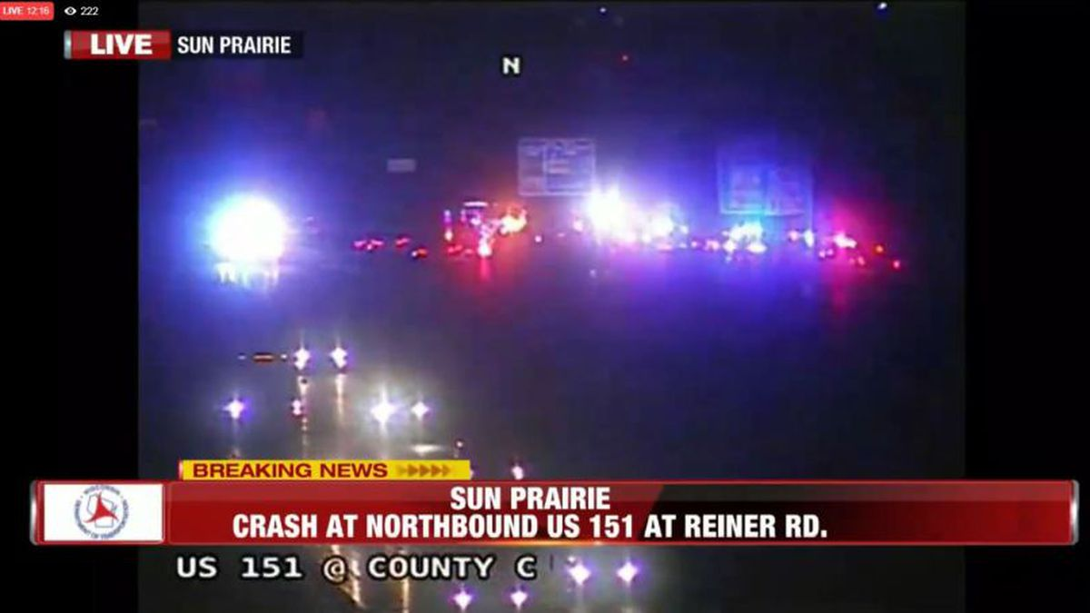 The scene of the crash Monday night.
