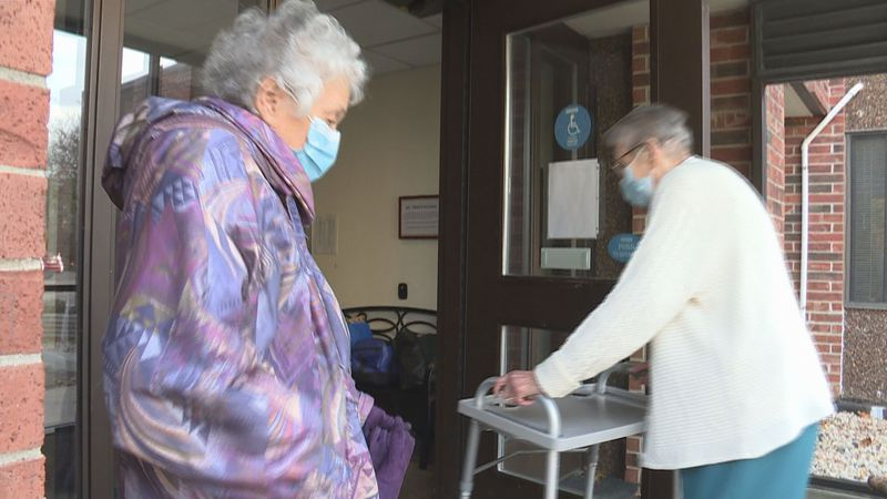 Nancy Miller and Marjorie Pope have lived at The Gardens Retirement Community for several...