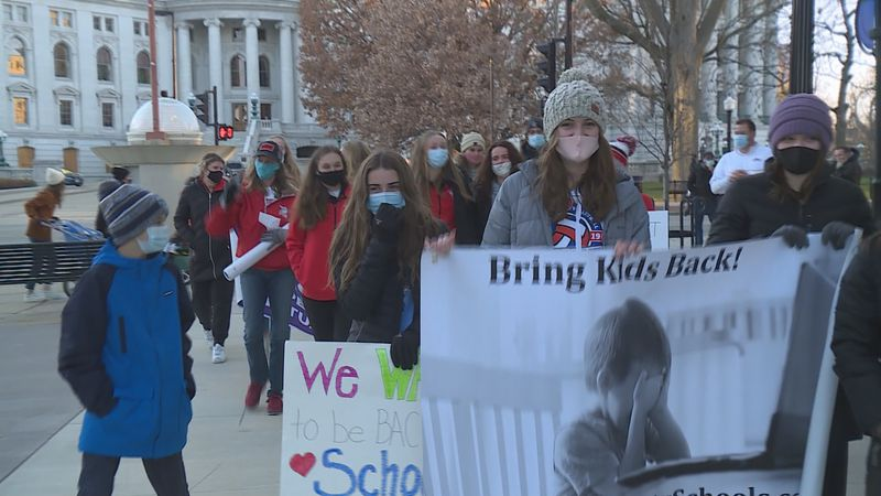 Open Dane County Public and Private Schools rallies for students to return to sports and other...