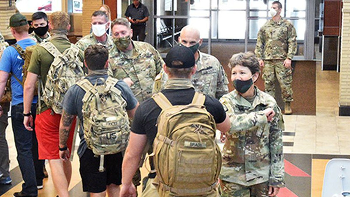Wisconsin Army National Guard troops returning to Madison Saturday (Source: Wisconsin National...