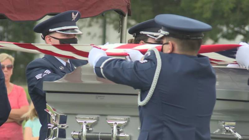 Graveside service of U.S. Airforce Airman Second Class Edward J. Miller