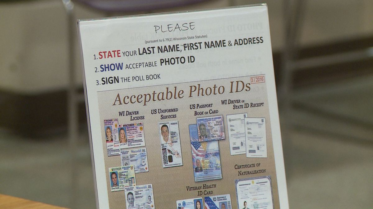 Wisconsin voters can use one of several IDs at the polls.