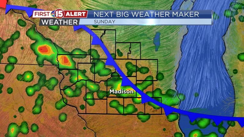 Next Big Weather Maker - Backdoor cold front Sunday