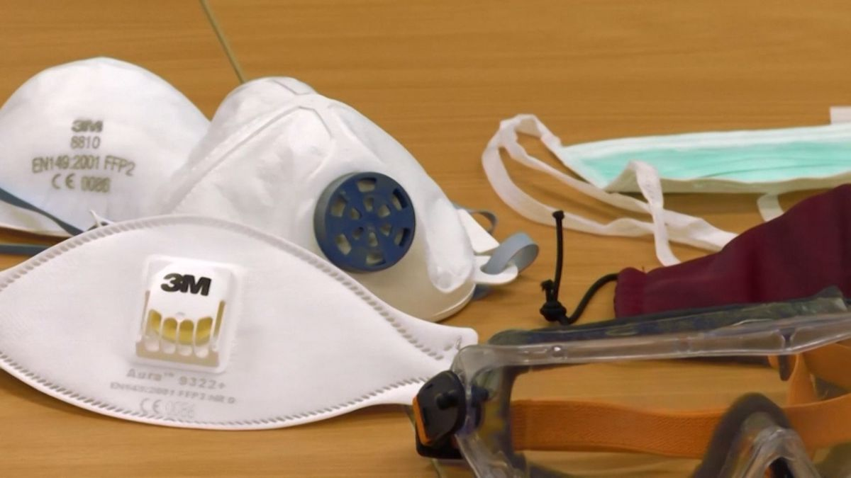 Health experts say it is important to wear either a cloth or surgical mask when out in public.