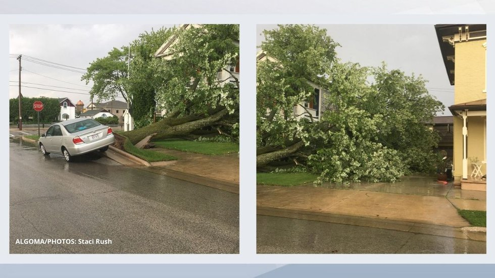 Storm damage in Algoma. July 26-27, 2021.