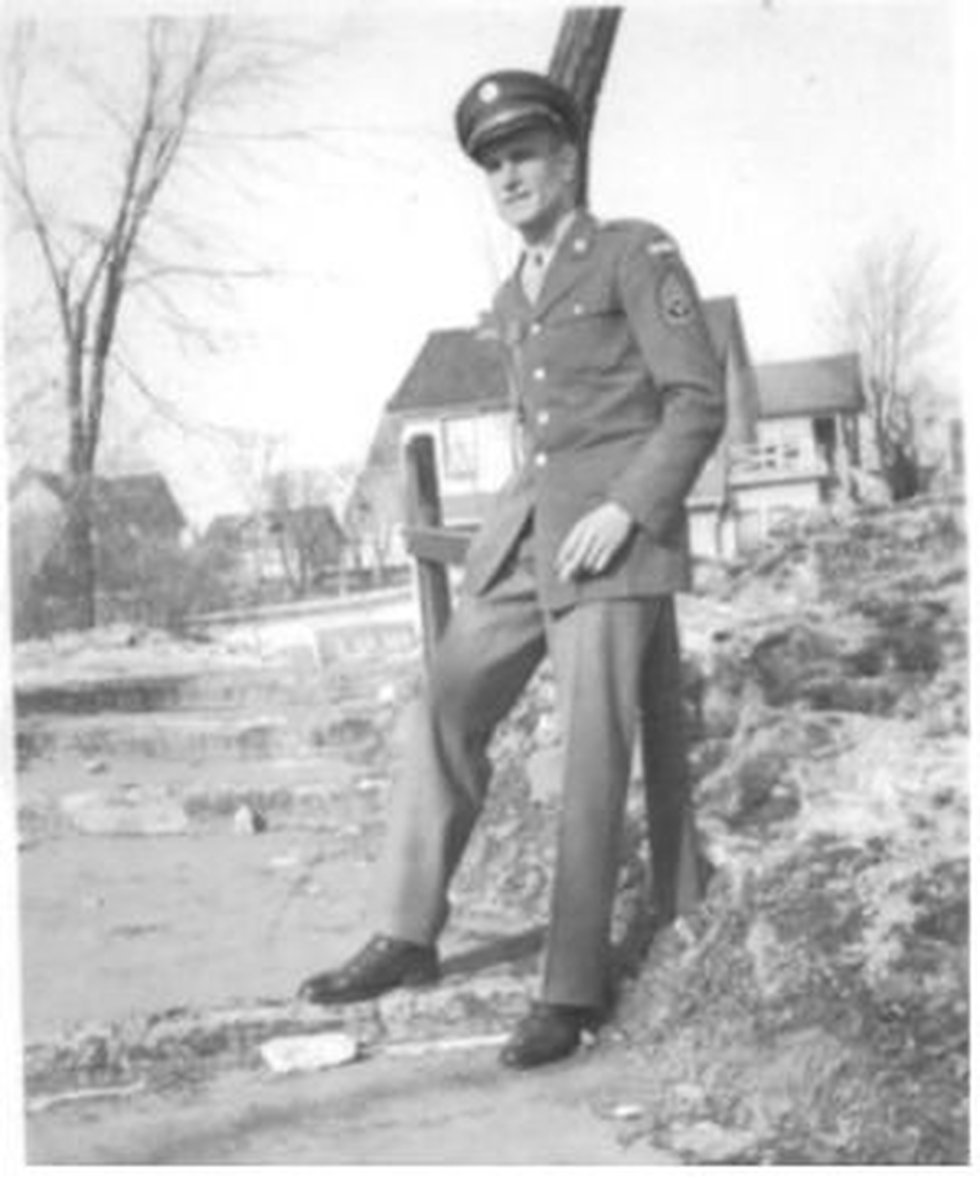 Bill Leppien in his U.S. Army Air Force Signal Corps uniform during WWII.