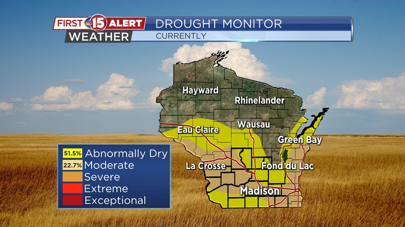 Moderate drought was confined to Racine/Kenosha counties last week. It now has expanded to...