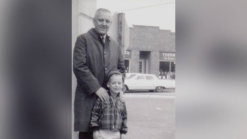 """""""This picture with my Dad, John W. Stofflet, has always been my favorite, because my Dad was..."""