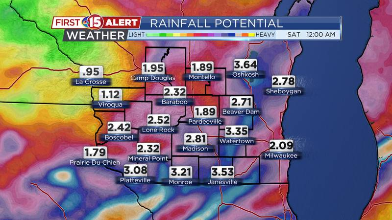 Rainfall Potential Tuesday Night - Friday