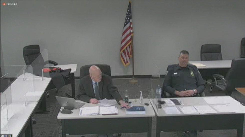 Chief Terrence Terpstra, Cuba City Police Department, appears virtually for hearing