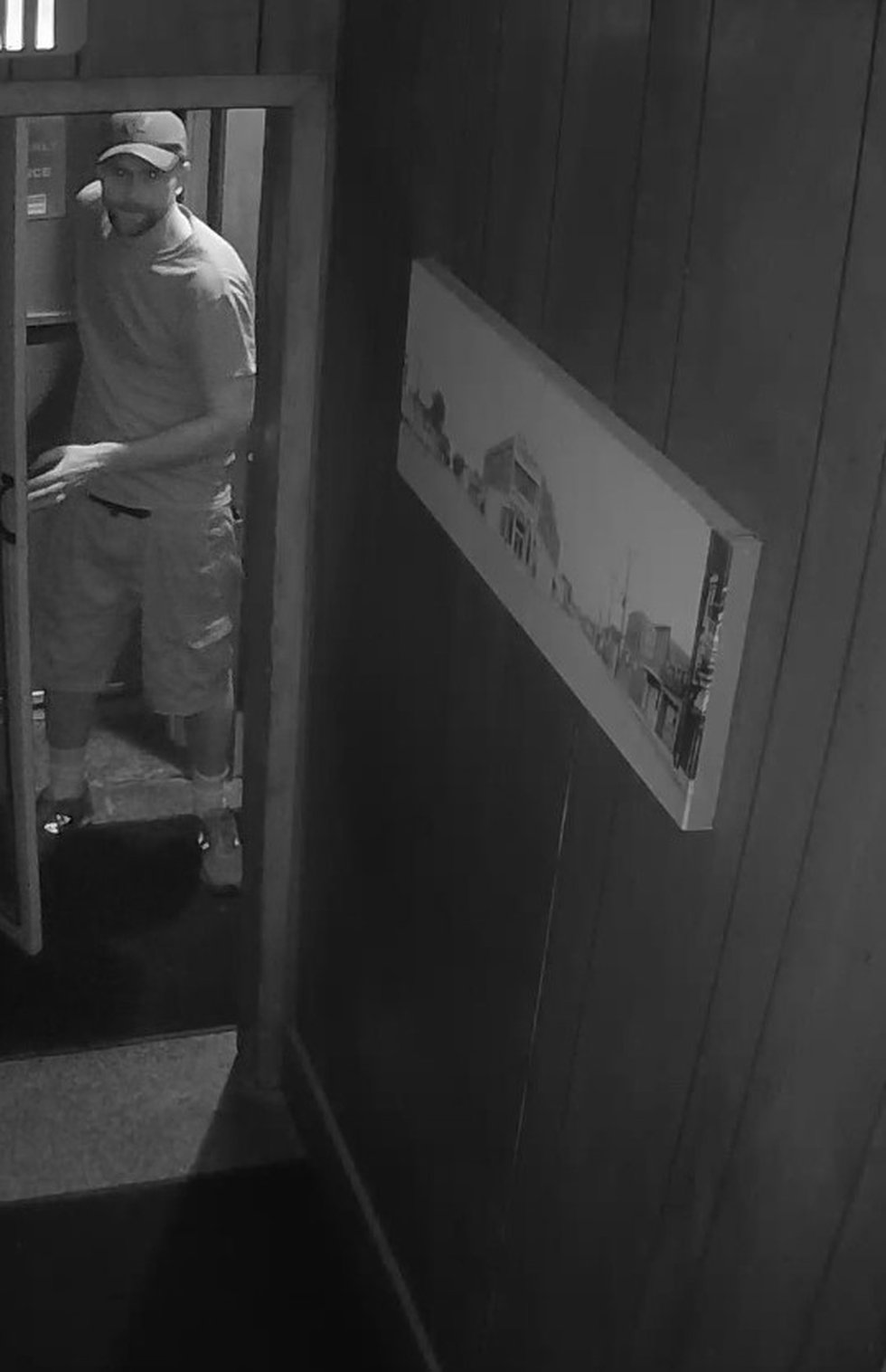 The Madison Police Dept. released a surveillance image from the burglary at the Atwood Bar, on...