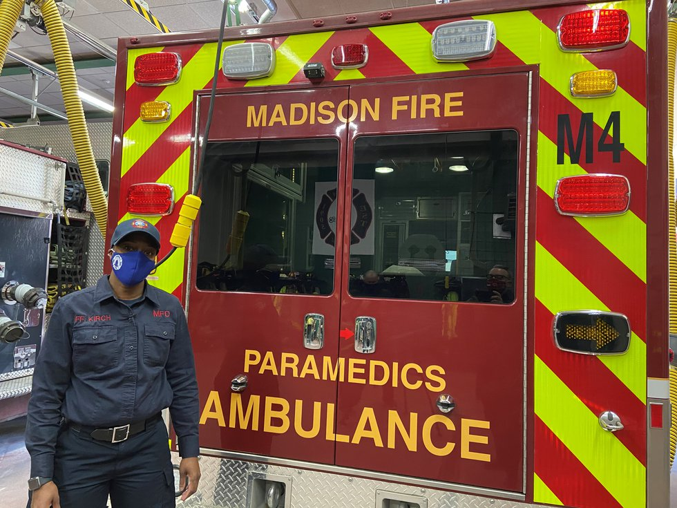 Madison Fire Department Firefighter Tasha Kirch,  In this photo, she was training with crews at...