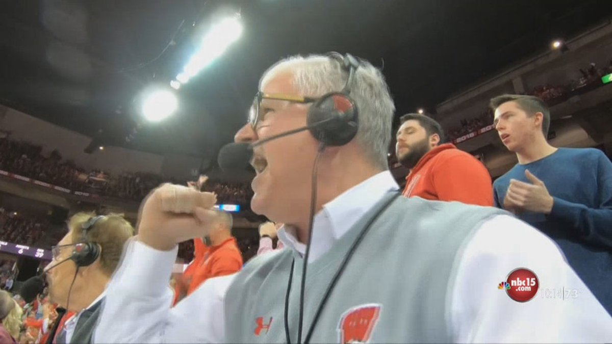 Matt Lepay calling a game a Wisconsin defeated Minnesota 71-69 on March 1st