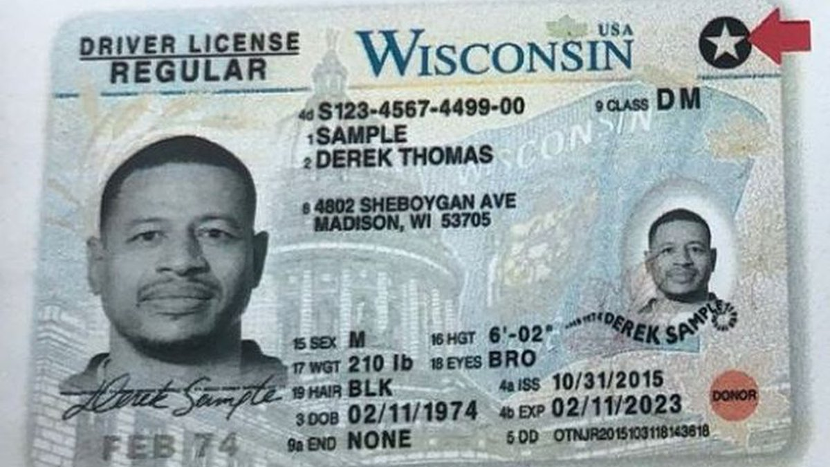 An example of a REAL-ID compliant driver's license. Wisconsin has been issuing the ID since...