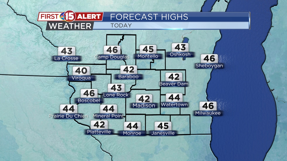 High Temperatures - Wednesday