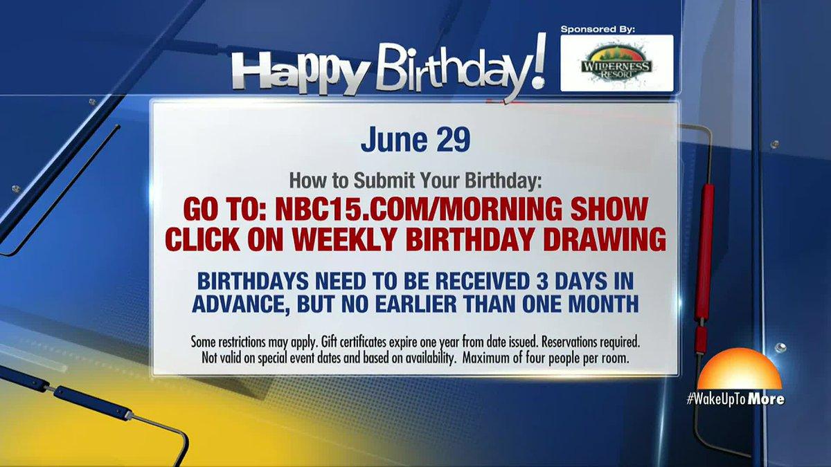 Birthdays for Monday, June 30