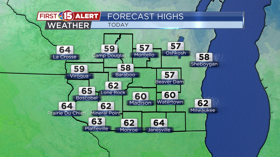 High Temperatures - Saturday