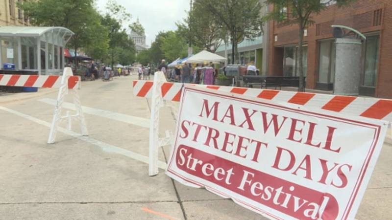 The sidewalk sales are back in downtown Madison.