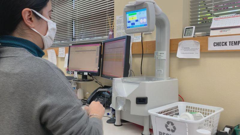 Forward Pharmacy technician Mariana Garcia uses the Icon to sort pills and fill prescriptions.